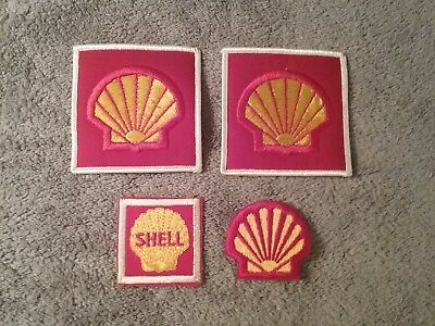 Shell Oil Company - Vintage Crew Issued Patch Set - 4 Pieces