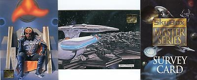 1994 Skybox Star Trek Master Series Two PROMO CARD SET S1 S2 Survey Card 3 Cards