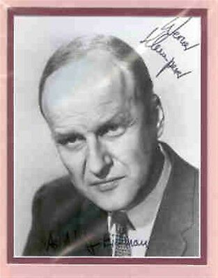 Werner Klemperer double matted signed photo, as Eichmann.SIGNED with both names