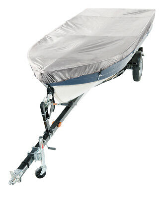 V-Hull 12' - 14' Fishing Boat Cover Indoor Silver Polyester by Lunatic
