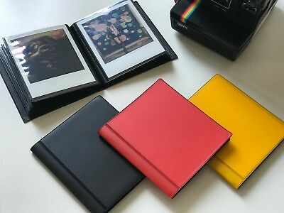 Black Polaroid Album for 600 / SX-70 / Polaroid Originals Film - fits 40 photos