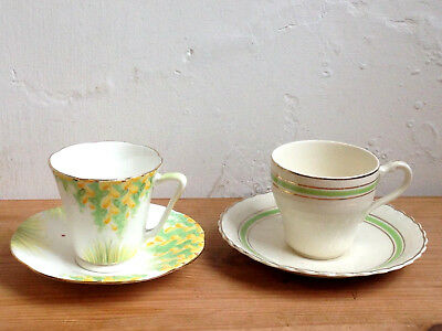 """VINTAGE 1930's GRAFTON CHINA DEMITASSE CUP & SAUCER plus """"SOL"""" MEAKIN other"""