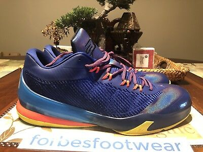 b0466332d304 Nike Mens Jordan CP3.VIII Deep Royal Blue Infrared 23 Yellow 684855-420 Sz