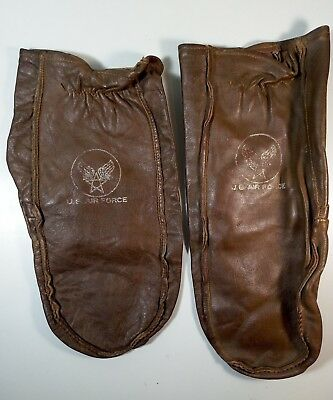 WW2 AAF US Army Air Force Type N-2 Air Crew Mitten Style Leather Gloves Mittens