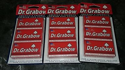 Dr. Grabow 10 Premium Pipe Filters ~ Free Shipping ~