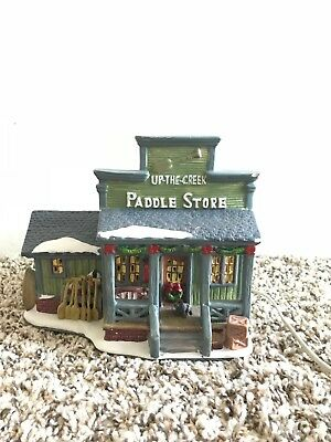 VINTAGE Up The Creek Paddle Store Light Up Christmas Village House (RARE)