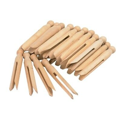 18 Natural Wooden Dolly Pegs Wood Cloth Craft Kids - Laundry   11cm Long
