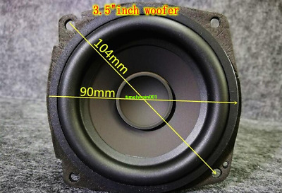 "1pcs 3.5""inch 4Ohm 15W Bass speaker HIFI Woofer Home Audio parts Loudspeaker"