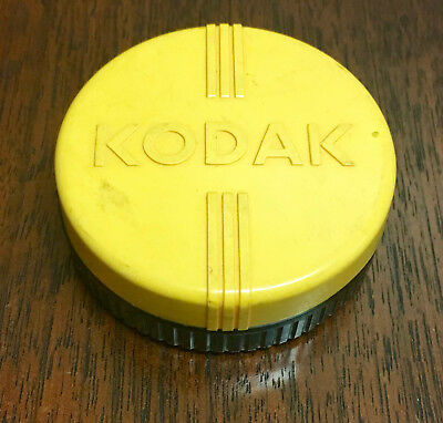 Vintage Kodak Lens Filter Holder, Original Yellow Bakelite Storage Case 1950's