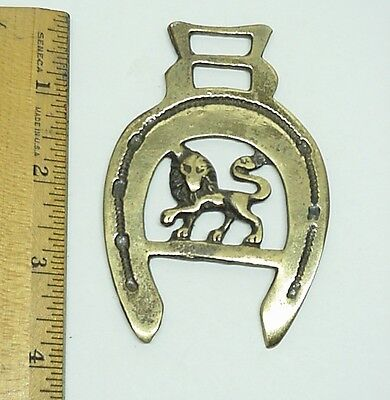 Brass Horse Medallion Lion  Saddle Decor Ornaments Equestrian #2