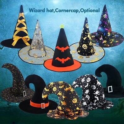 Halloween Party Props Pumpkin Witch Hat Cloth Sorcerer Hat Decoration Gifts AU