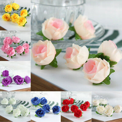 50 Head Artificial Flowers Real Touch Latex Roses Wedding Home Party Decorations