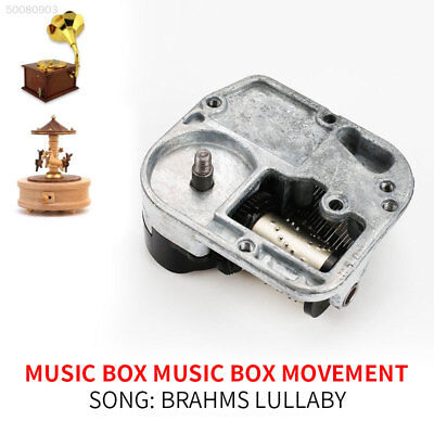 Many Songs Windup DIY Music Box Clockwork Movement with Key Play brahms lullaby;