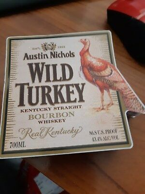 wild turkey label sticker -all new never used