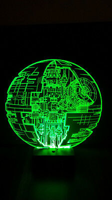 Star Wars Todesstern Blueprint Deathstar Led Lampe Leuchte