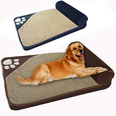 Large Luxury Dog Bed Puppy Pets Cat Cushion Pillow Mattress Warm Soft Couch