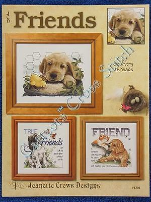 Cross Stitch Pattern Friends Pup Chick Cat Fiona Jude