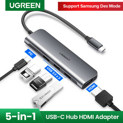 Ugreen USB C Hub USB Type C 3.1 Adapter Dock with 4K HDMI PD Charge for MacBook