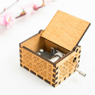 Game of Thrones Engraved Wooden Music Box interesting Kid Toys for Child gift