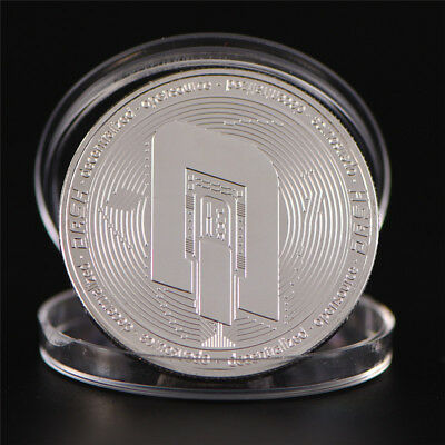 Silver Bitcoin Commemorative Round Collectors Gift Coin Bit Coin Art Physical R