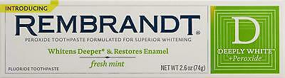 REMBRANDT Plus Premium Whitening Toothpaste with Fluoride and Peroxide Fresh -