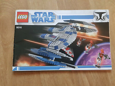 Lego Star Wars Hyena Droid Bomber 8016 Set With Box And Manual