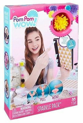 Maya Toys Pom Pom Wow Sparkle Pack Ages 6+ New Toy Girls Boys Play Game Paint