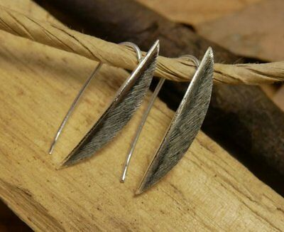 Marquise Shape Earrings Fine Sterling Silver New Jewelry Shipping Included