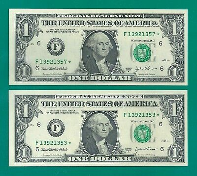 ★ Usa Etats Unis - Lot Billets 1 Dollar Star Note - 2003 A - (F) Atlanta - Neuf