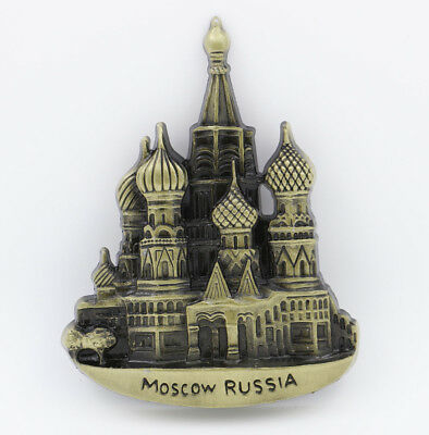 "3D Metal Fridge Magnet ""The Kremlin Moscow Russia"" Souvenir Gift Brand New"