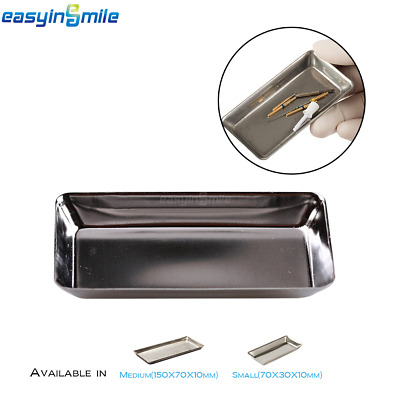 EASYINSMILE Dental Medical/Surgical Tool Tray Dish Holder Stainless Steel 2 Size