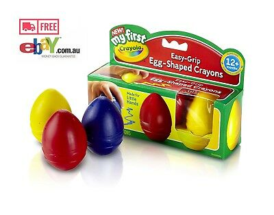 Crayola 3 Pack My First Palm-Grip Crayons Age 1+ Kid Toys Craft Drawing AU Stock