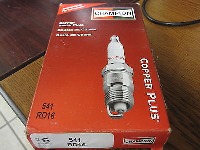 Champion Industrial Spark Plugs Rd16 New 6 Pack