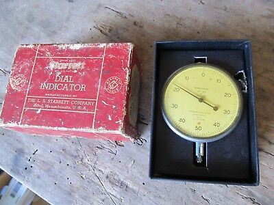 VINTAGE STARRETT NO. 25-T1 DIAL INDICATOR  in Box