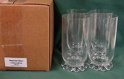 Imperial Glass CANDLEWICK 400-19 9 Oz Tumblers MINT IN BOX SET/4 More Available