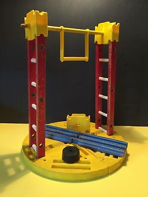 Vintage 1963 Fisher Price #900 Circus Parts - LADDERS RING TRAPEZE BARREL TUB