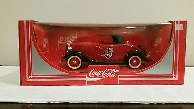 Vintage Coca Cola Toy Car 1934 Roadster Made In France By Hartoy Inc