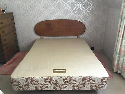 Vintage Ercol Double Bed & mattress. Exc. condition, Mid-20th - Blue Label