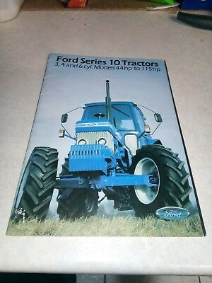 ford series 10 tractors sales brochure 32 pages