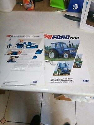 ford 7610 sales brochure 8 pages