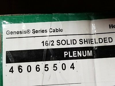 Honeywell Genesis Cable 4606 16/2C Solid Shielded Plenum Fire Alarm Wire /100ft