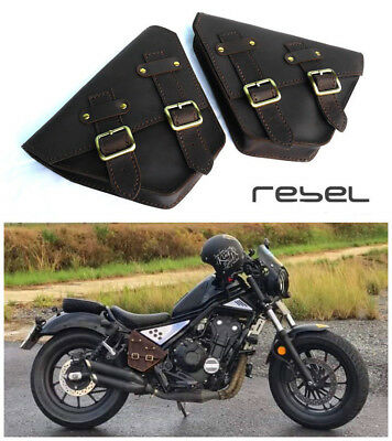 Honda Rebel 500 300 Cmx 2017-2019 Saddle Bag Side Frame Cover Genuine Leather