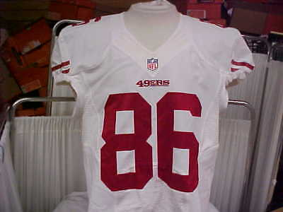 1d18b7cc54a 2012 NFL San Francisco 49ers Game Worn Team Issued Jersey Player  86 Size 46