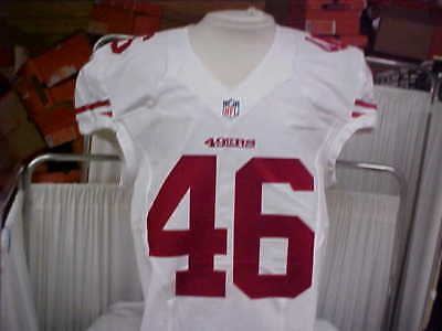 0b2aedbb7 2016 NFL San Francisco 49ers Game Worn Team Issued Jersey Player  46 Size 44