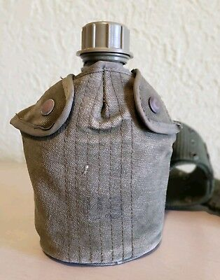 US ARMY MILITARY VOLLRATH CANTEEN WWII 1944 W/ COVER-CANTEEN HOLDER And Belt