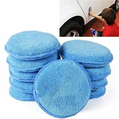 Microfiber Car Applicator Foam Sponge Waxing Pads Car Cleaning Mat Detailing