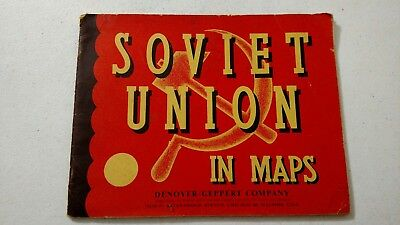 1965 - Soviet Union In Maps  Denoyer-Geppert Company