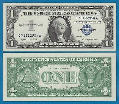 United States 1 Dollar UNC 1957 Silver Certificate Blue Seal P 419 Fr. 1619 USA.