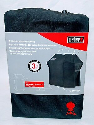 Weber 7106 Grill Cover Black Storage Bag Spirit 220 and 300 Series Gas Grills