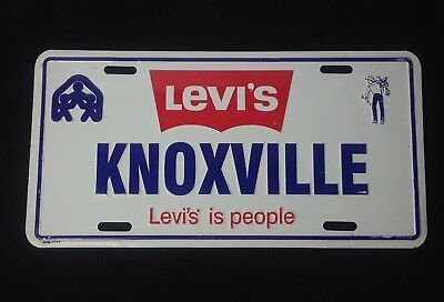 "VTG Levi's Knoxville (Tennessee) ""Levi's Is People"" Metal License Plate"
